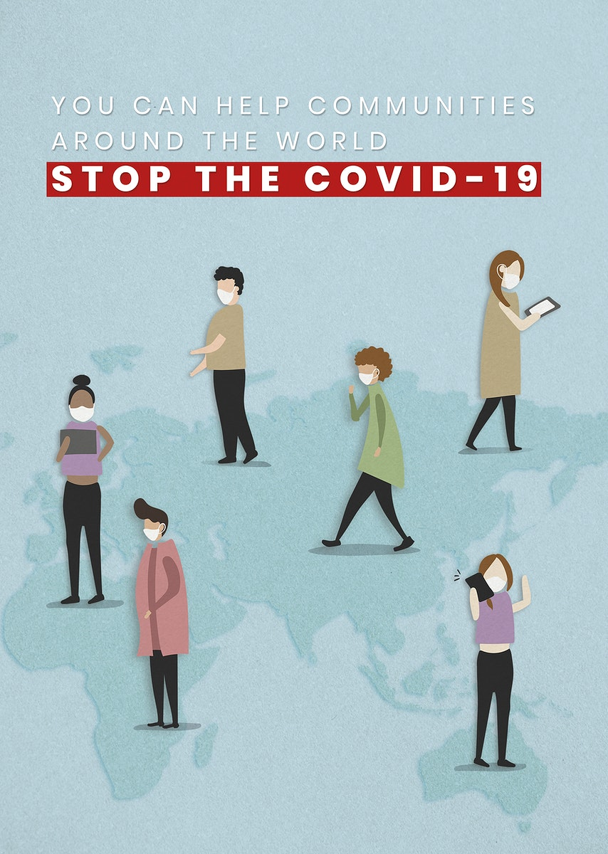You can help communities around the world to stop the COVID-19 pandemic mockup