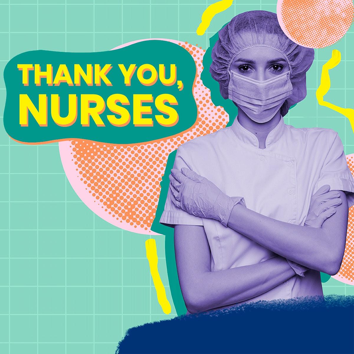 Thank you nurses awareness message template