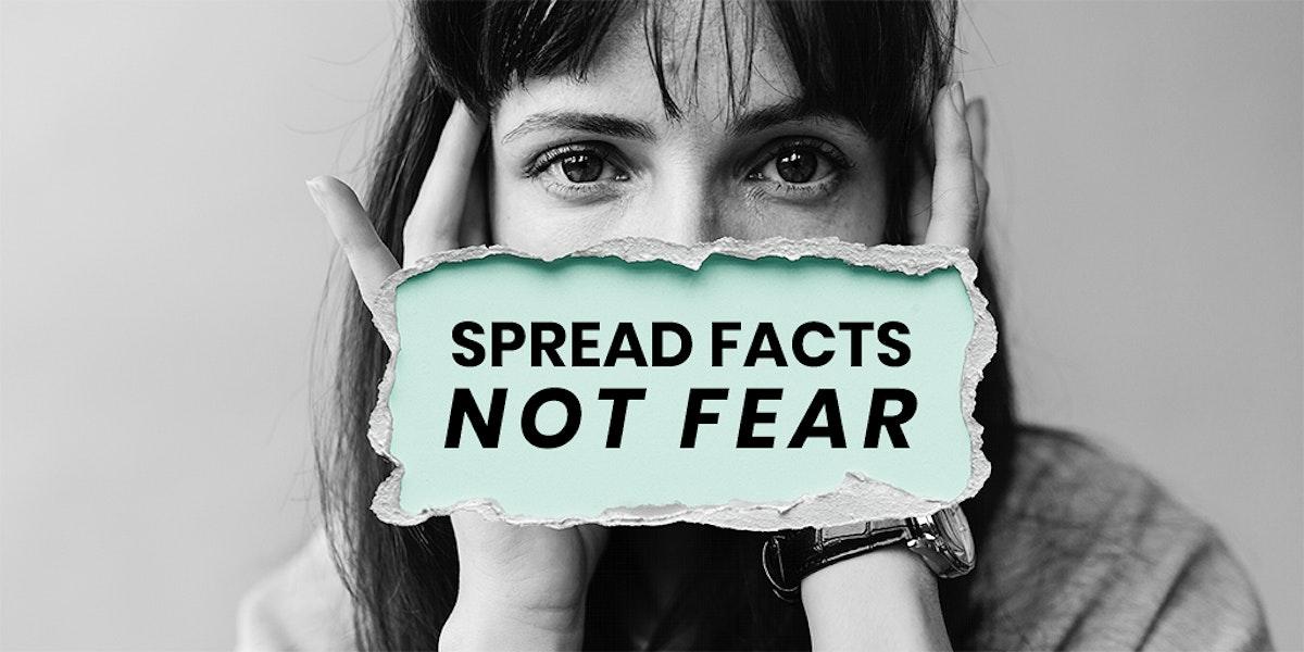 Spread facts not fear coronavirus awareness message template