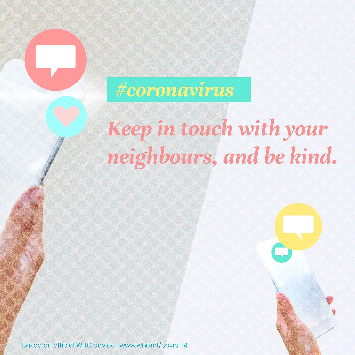 Help your neighbours during the COVID-19 pandemic vector social ad