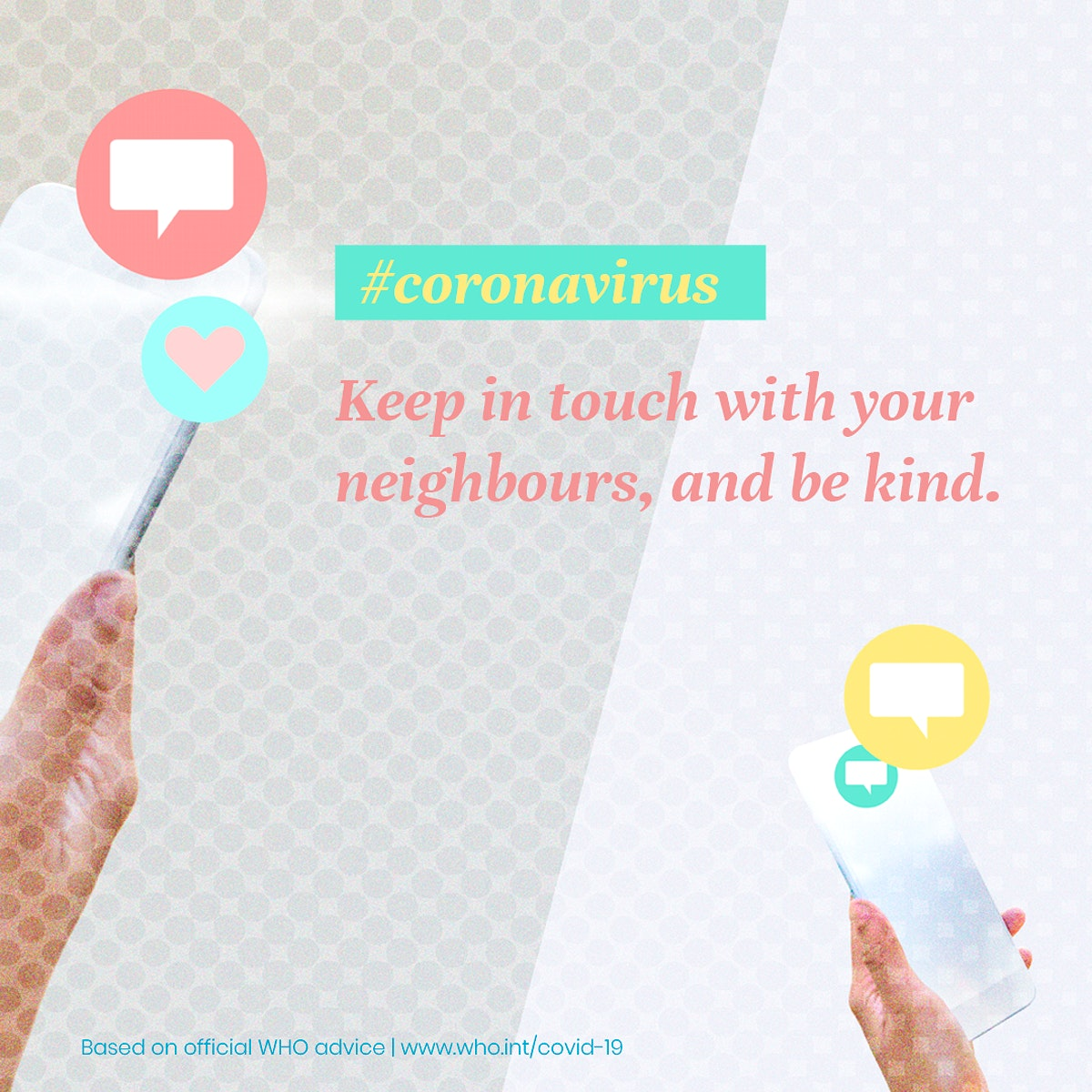 Help your neighbours during the COVID-19 pandemic psd mockup social ad