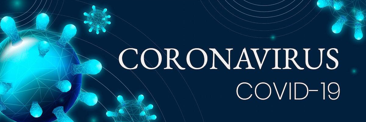 Covid-19 and Corona Virus awarenss template vector