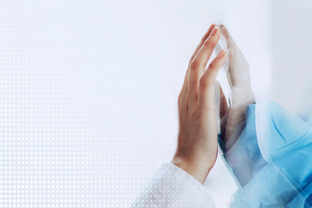 Reaching out through the glass during coronavirus pandemic