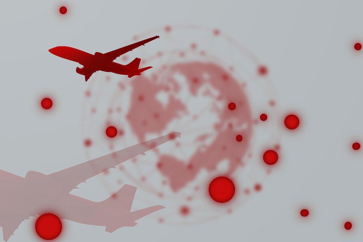 Travel ban during coronavirus pandemic social template