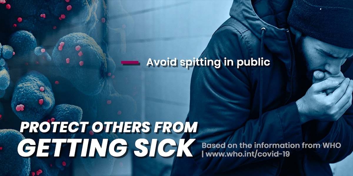 Protect others from getting sick due to coronavirus pandemic template