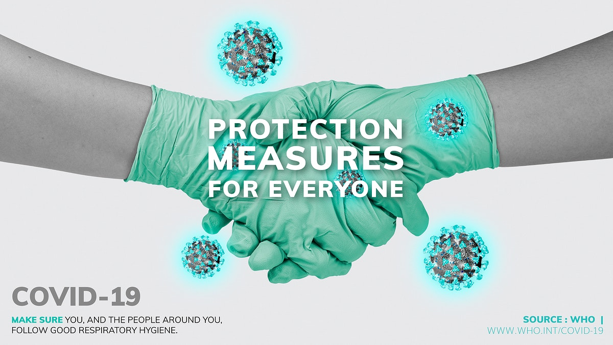 COVID-19 protection measures for everyone template source WHO vector