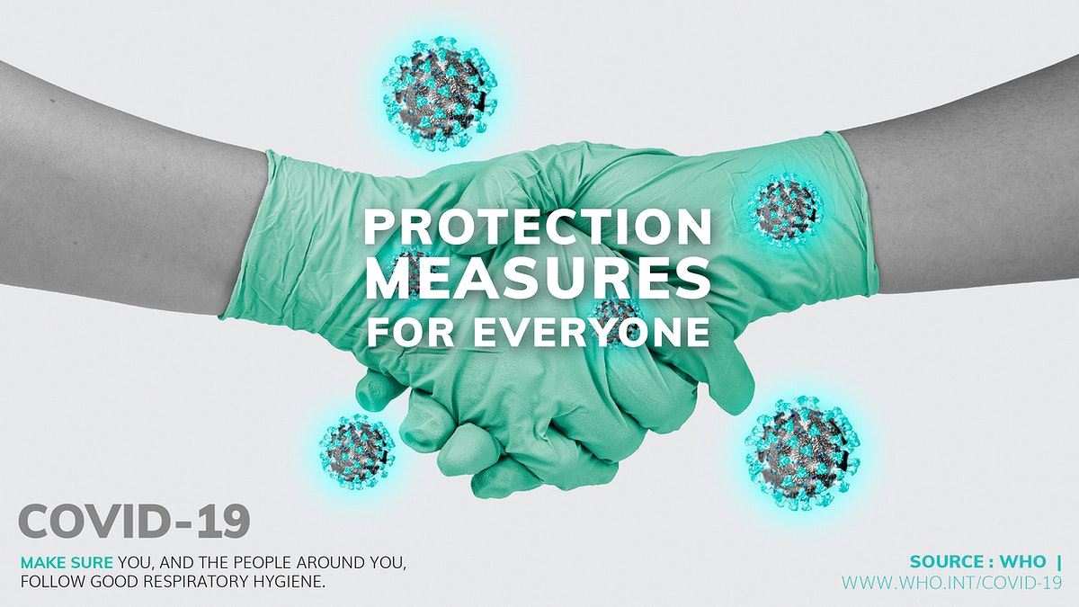 COVID-19 protection measures for everyone template source WHO mockup