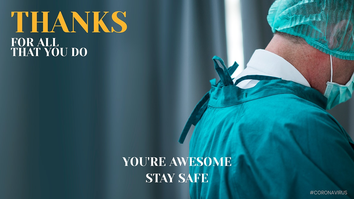 Thanks for all that you do banner vector