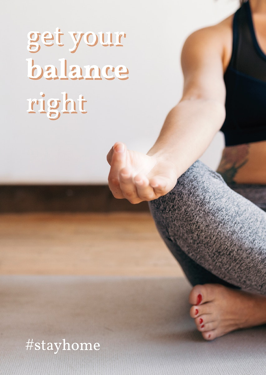 Get your balance just right during coronavirus pandemic