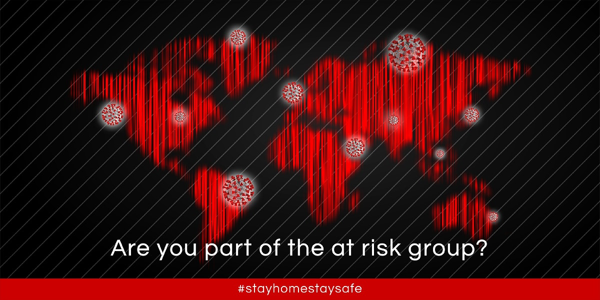 Are you part of the at risk group? social banner template vector