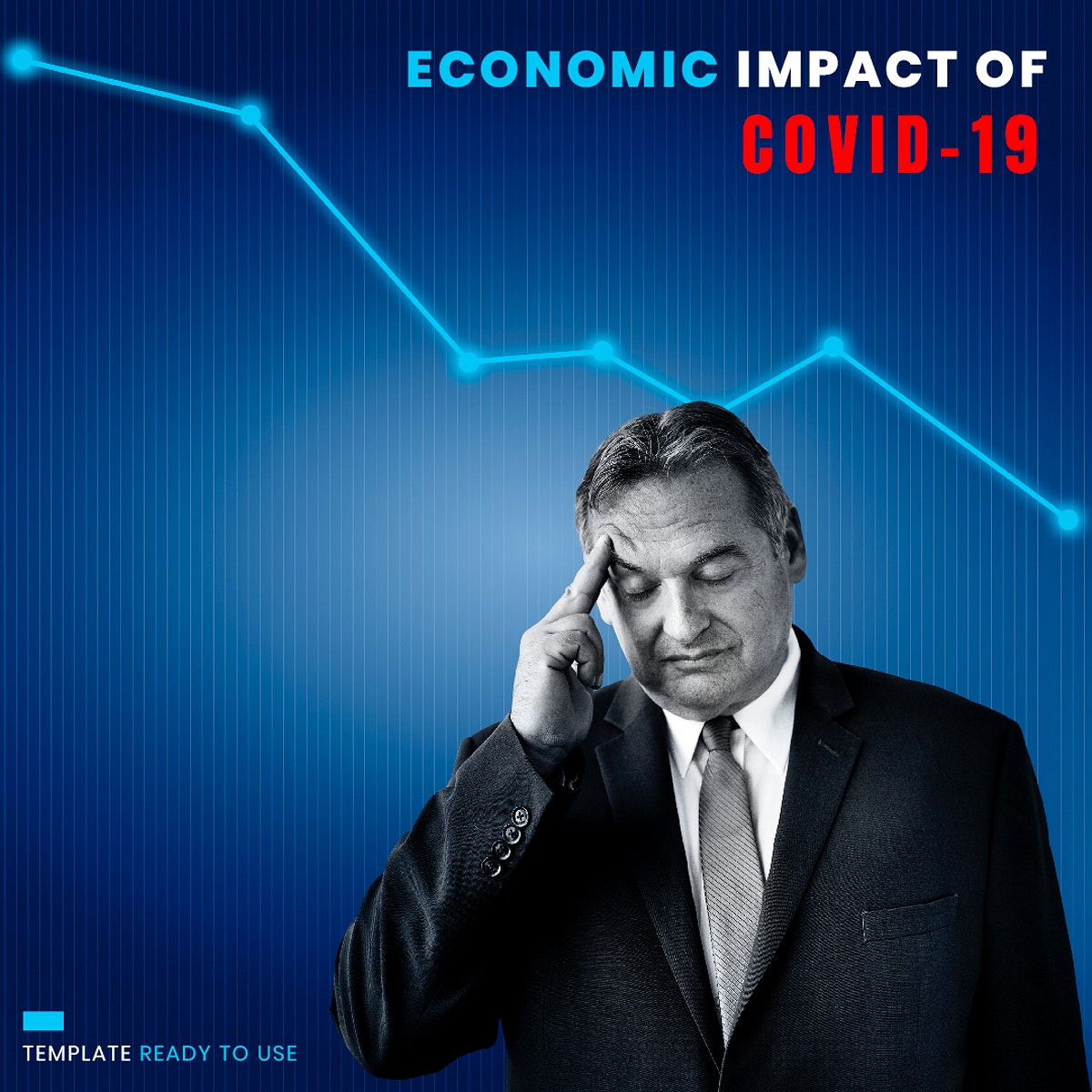 Economic impact of COVID-19 mockup