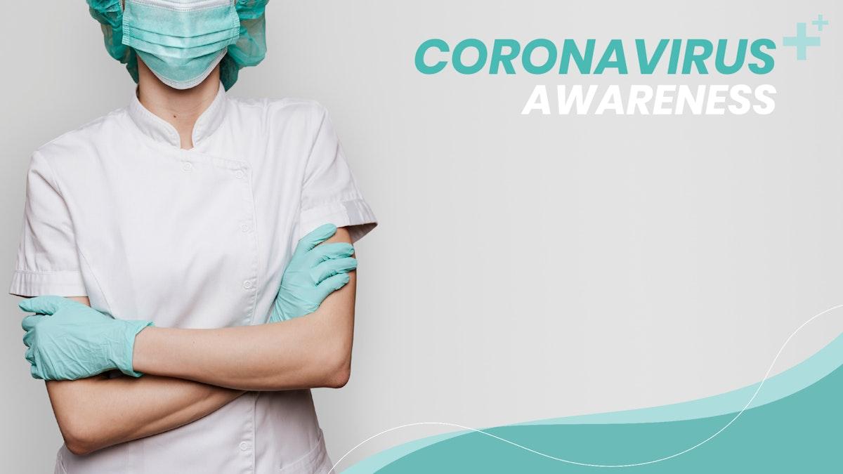 Coronavirus awareness to support medical professionals template
