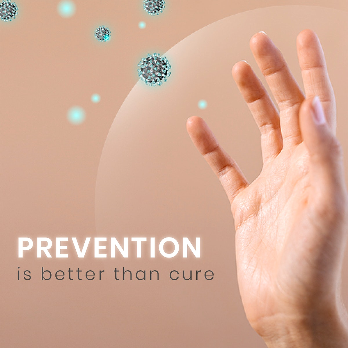 Prevention is better than cure social template mockup