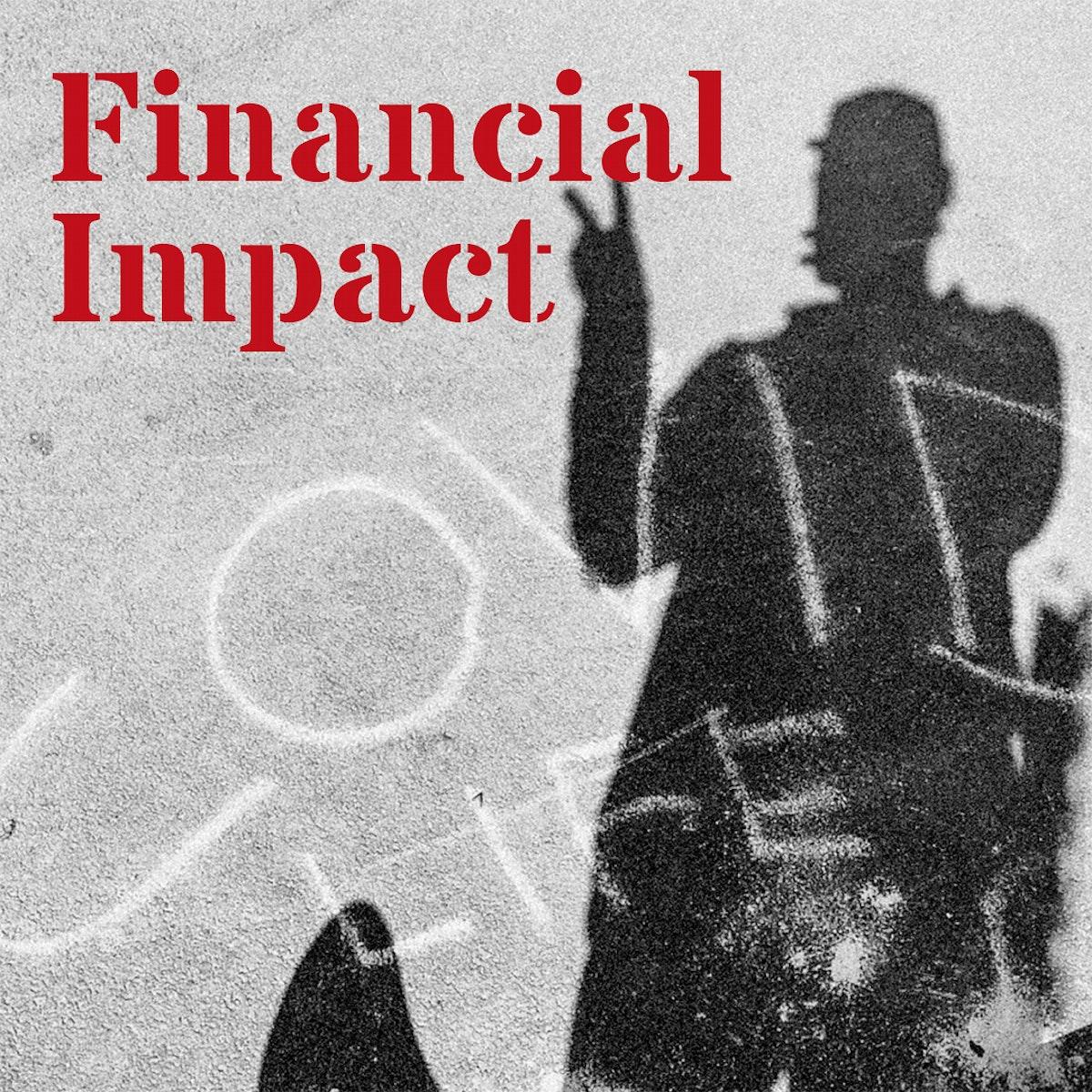 COVID-19 financial impact social banner template mockup