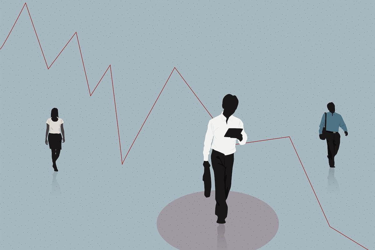 Coronavirus financial impact illustration