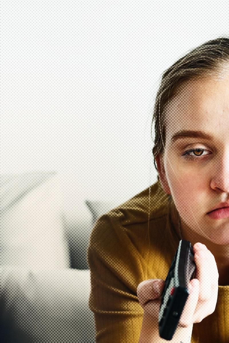 Young woman getting bored at home during coronavirus quarantine