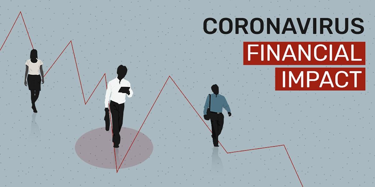 Coronavirus financial impact social template illustration