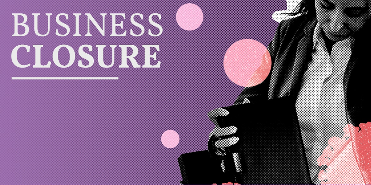 Business closure due to the coronavirus social template mockup