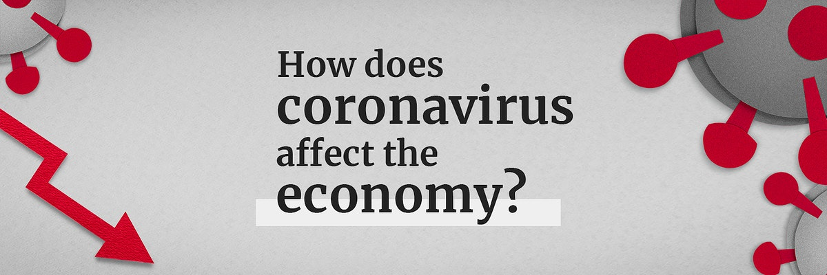 How does coronavirus affect the economy social banner template mockup