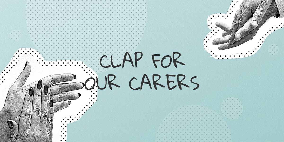 Clap for our carers social banner template mockup