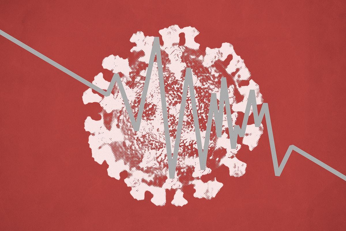 Coronavirus finance impact background illustration