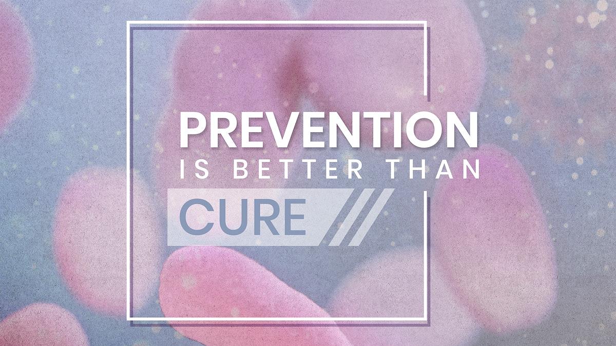 Prevention is better than cure coronavirus social banner mockup