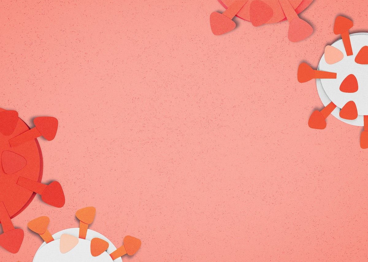 Orange Covid 19 Paper Craft Background