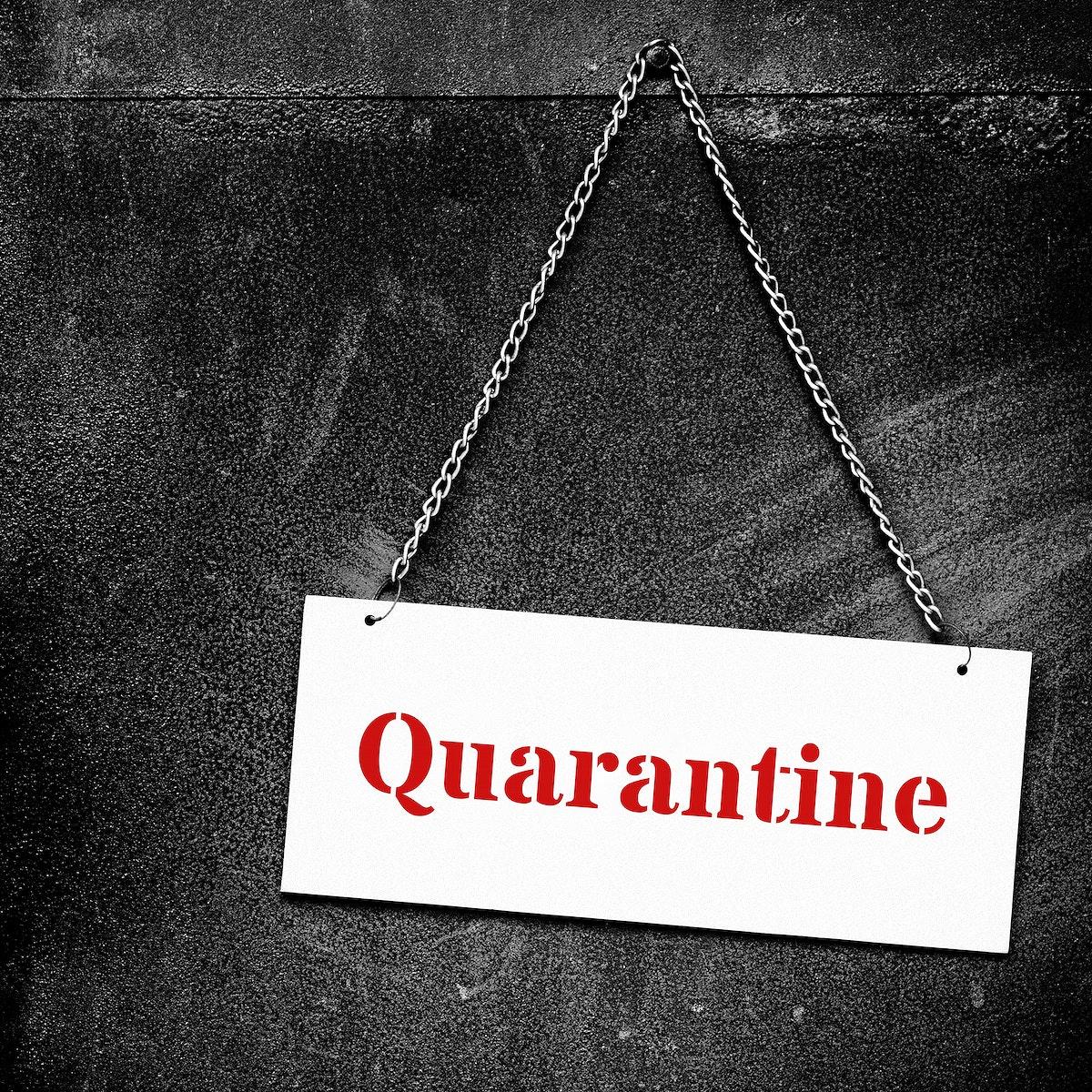 Quarantine during the coronavirus pandemic social banner