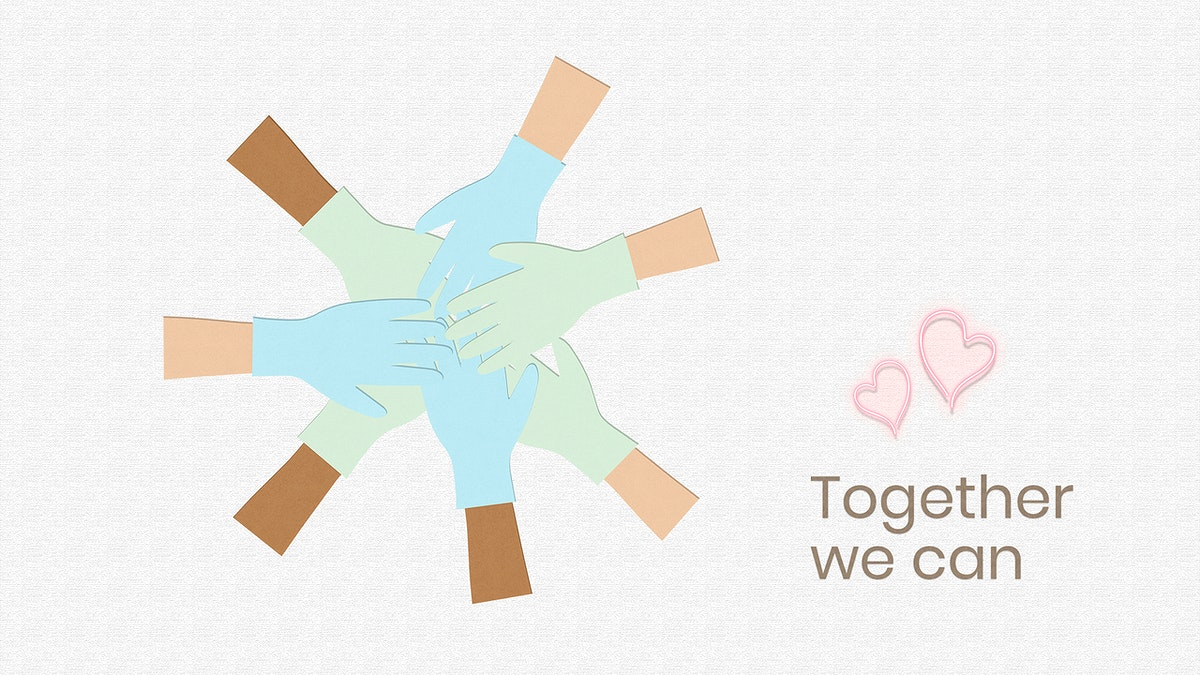 Together we can fight the virus social template