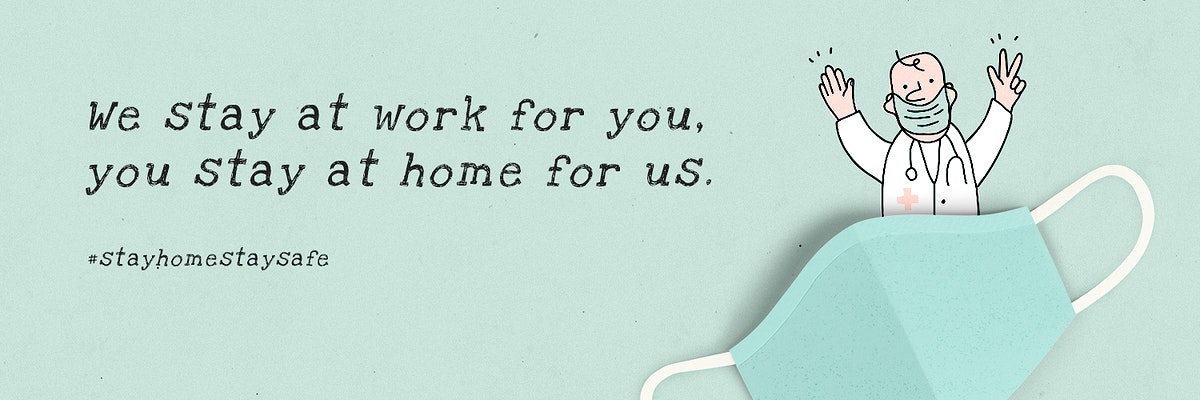 We stay at work for you, you stay at home for us social template