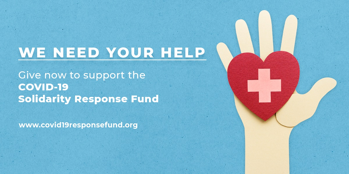 Give now to support the COVID-19 Solidarity Response Fund social banner