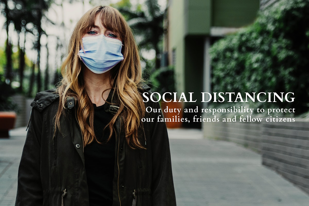 Woman social distancing during the  Covid-19 pandemic. This image is part our collaboration with the Behavioural Sciences…