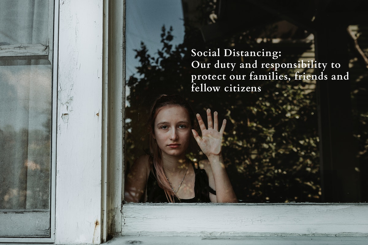 Woman social distancing during the Covid-19 pandemic. This image is part our collaboration with the Behavioural Sciences team…