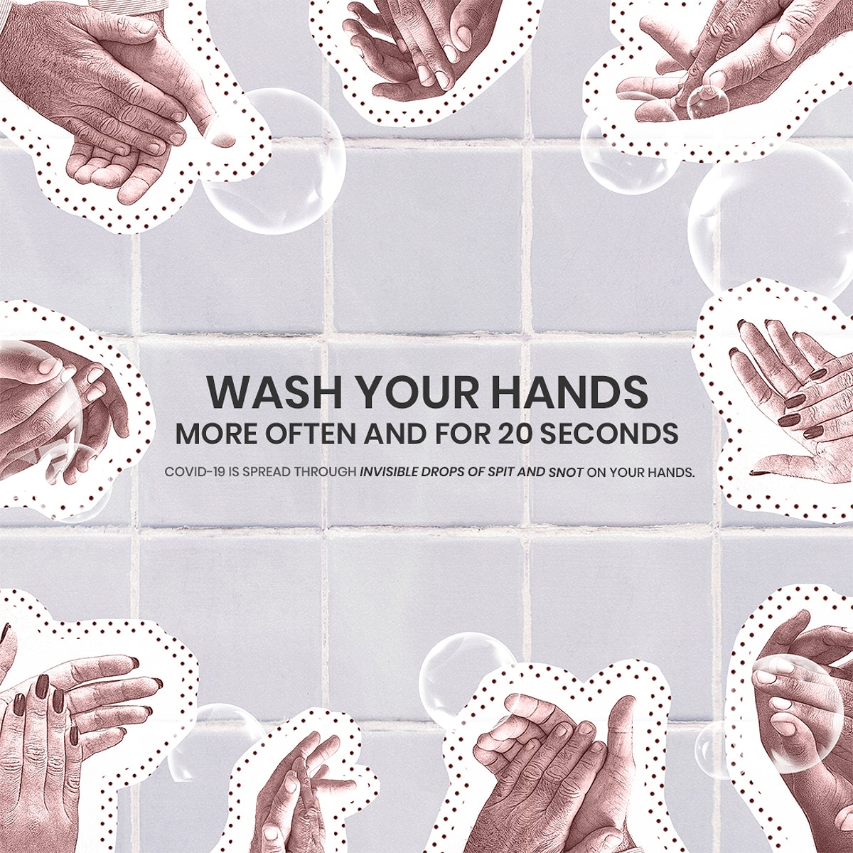 Wash your hands to prevent Covid-19. This image is part our collaboration with the Behavioural Sciences team at Hill+Knowlton…