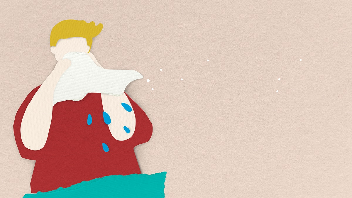 Cover your cough to prevent the spread of covid-19 social banner