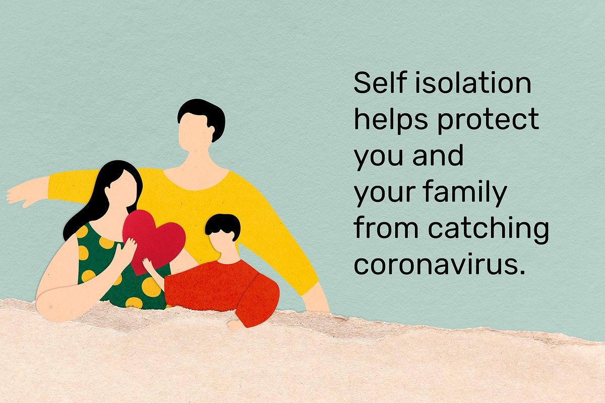 Protect you and your family by self isolating. This image is part our collaboration with the Behavioural Sciences team at…