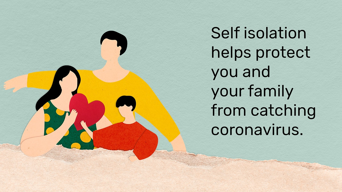Self isolation helps protect you and your family from catching coronavirus. This image is part our collaboration with the…