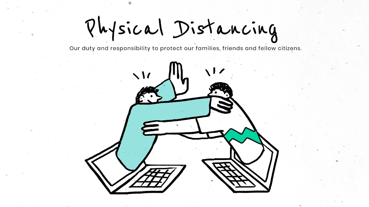 Physical distancing to flatten the curve. This image is part our collaboration with the Behavioural Sciences team at…