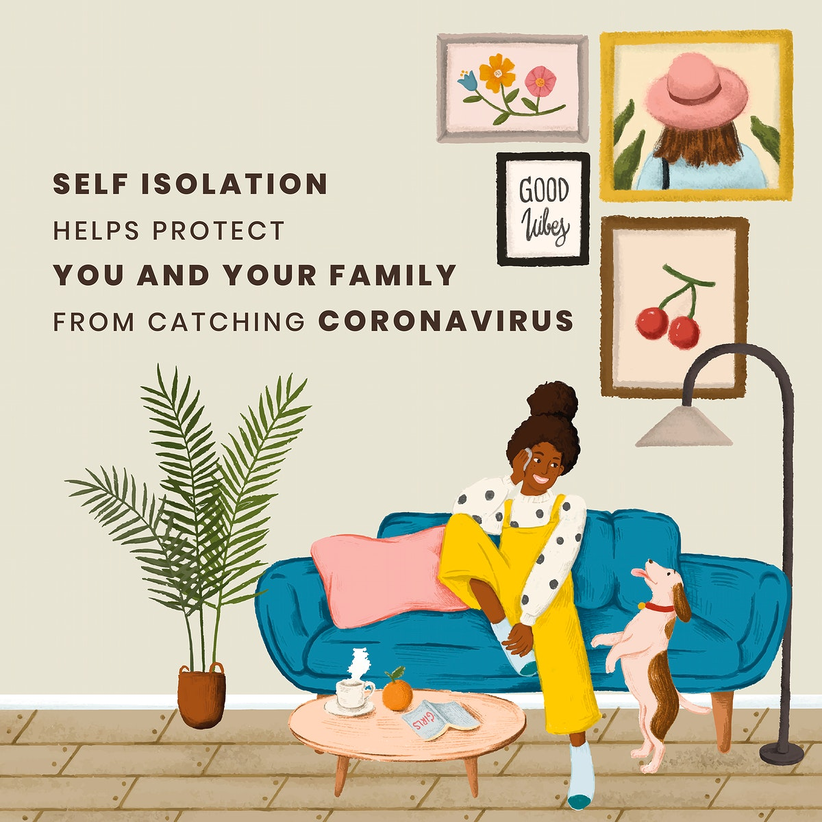 Woman at home in self isolation. This image is part our collaboration with the Behavioural Sciences team at Hill+Knowlton…