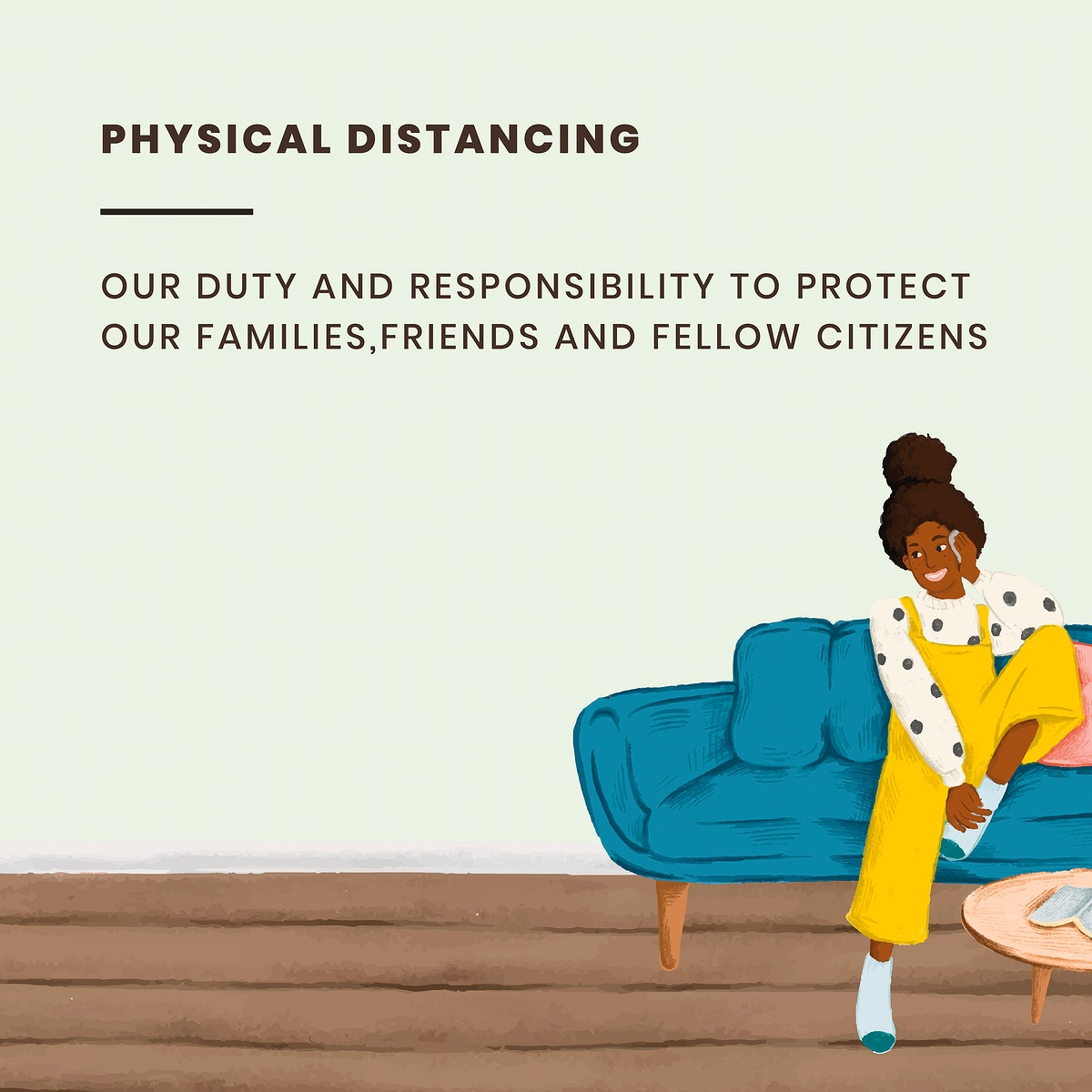 Practice social distancing to prevent covid-19. This image is part our collaboration with the Behavioural Sciences team at…
