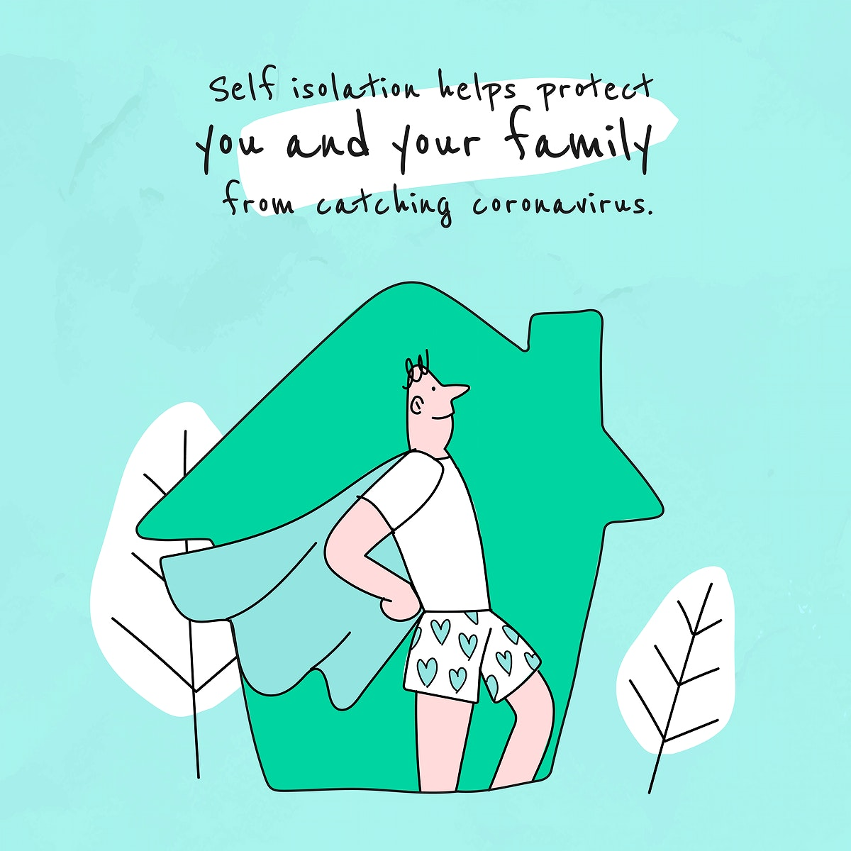 Self isolation helps protect you from covid-19. This image is part our collaboration with the Behavioural Sciences team at…