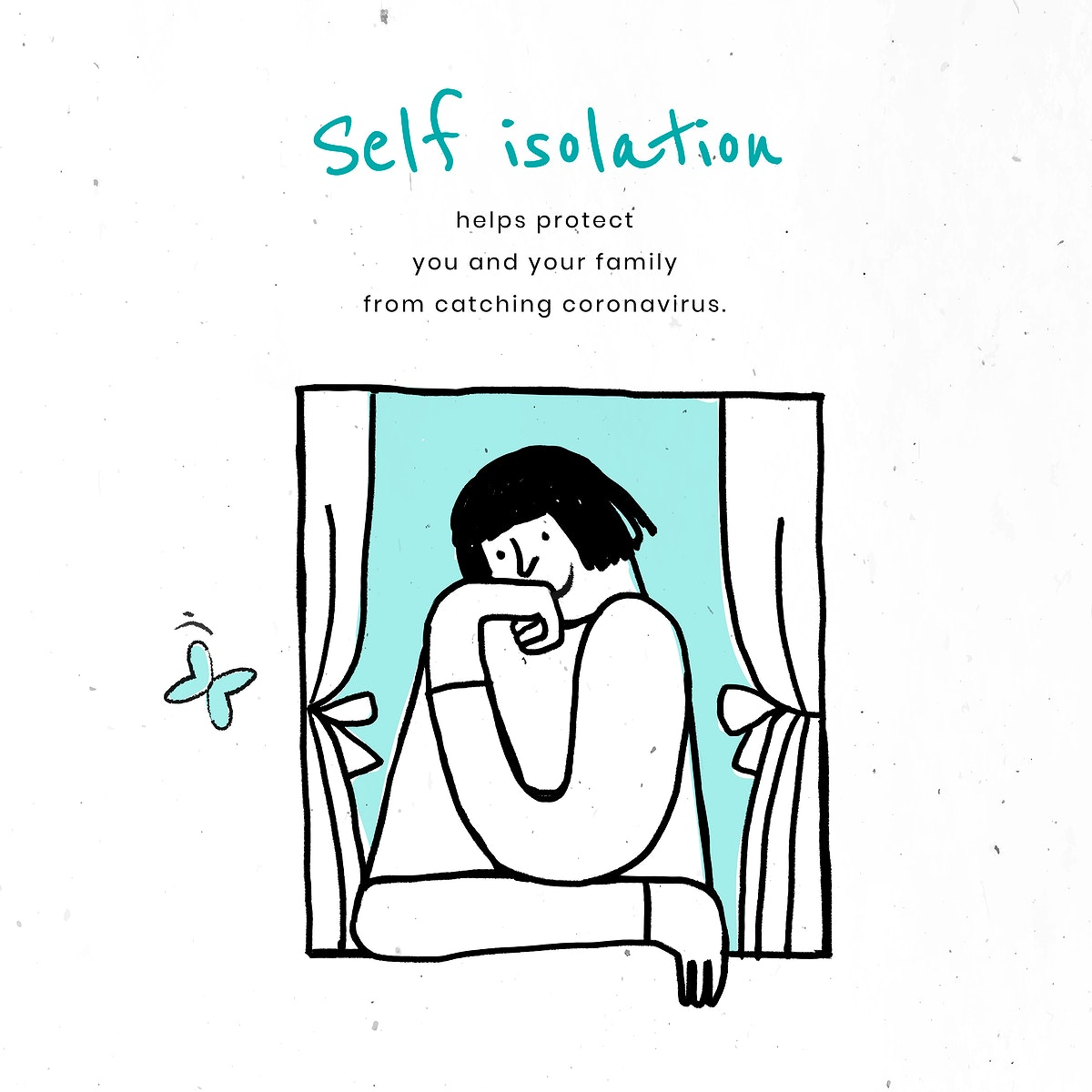 Stay in self isolation to protect yourself and others. This image is part our collaboration with the Behavioural Sciences…