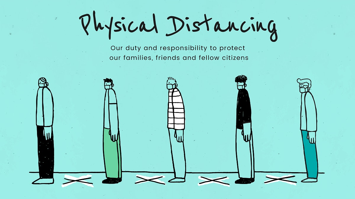 Practice physical distancing to avoid spead of Covid-19. This image is part our collaboration with the Behavioural Sciences…