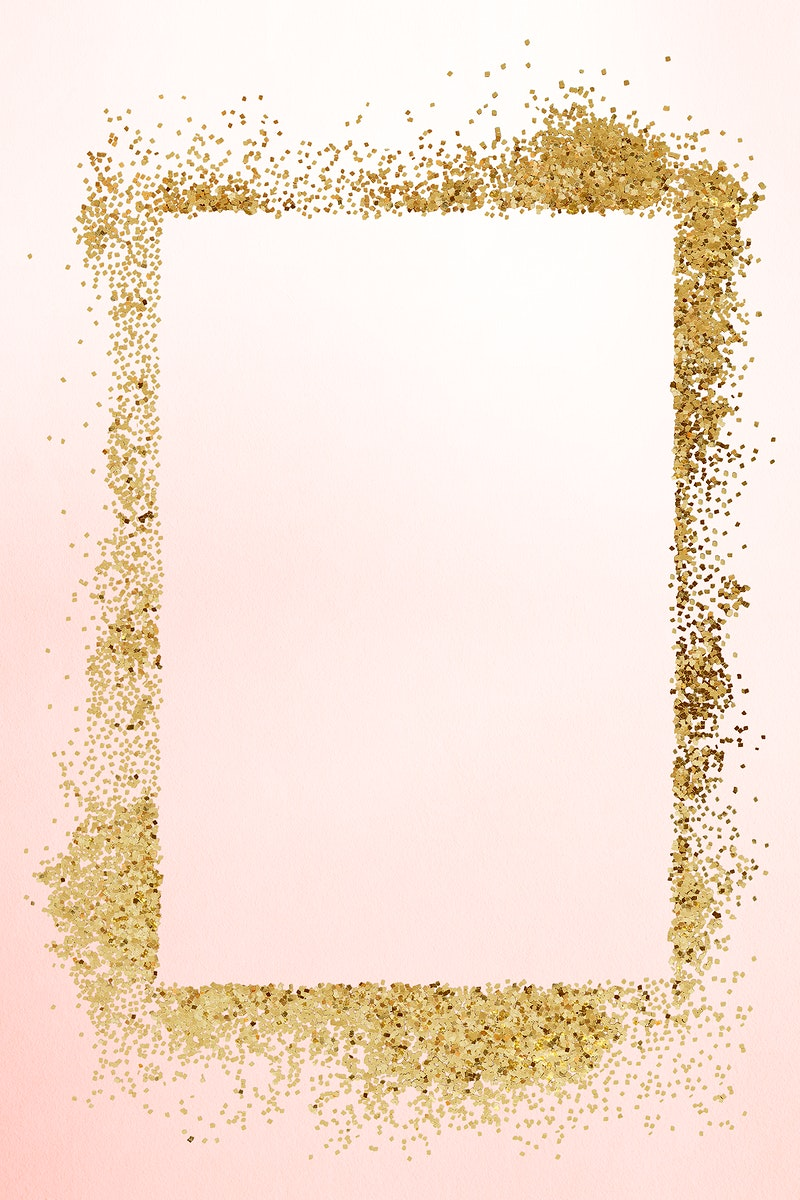 Glittery rectangle  frame on an old rose pink background