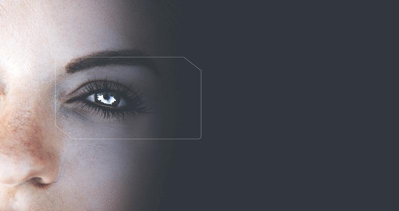 Eye of a futuristic robot