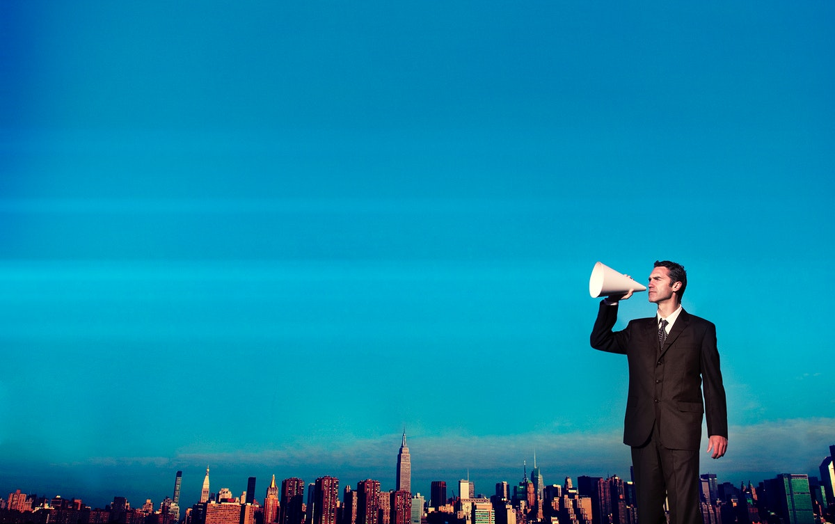 Business Person Announcement information Concept