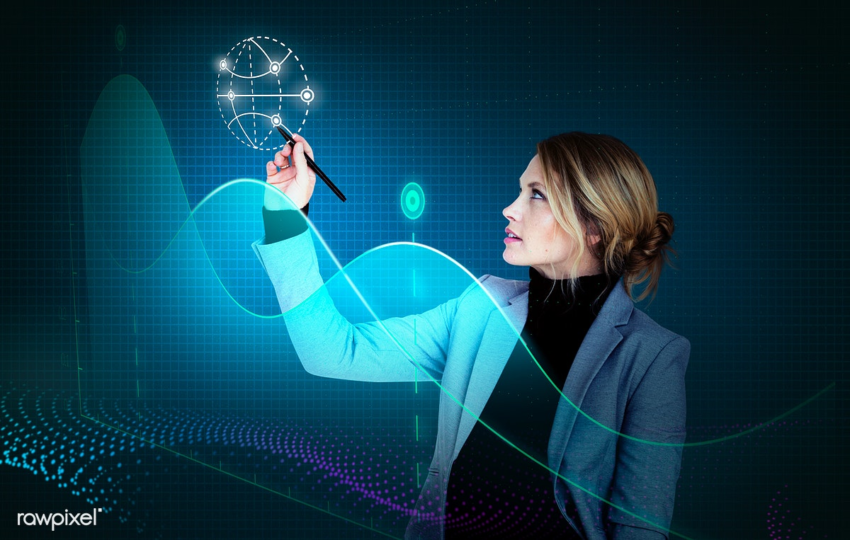 Download Premium Image Of Businesswoman In A Seminar Drawing A Graph 597813