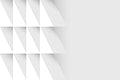White geometric background design vector