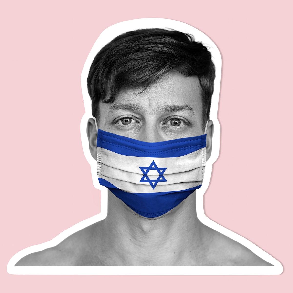 Israeli wearing a face mask during coronavirus pandemic