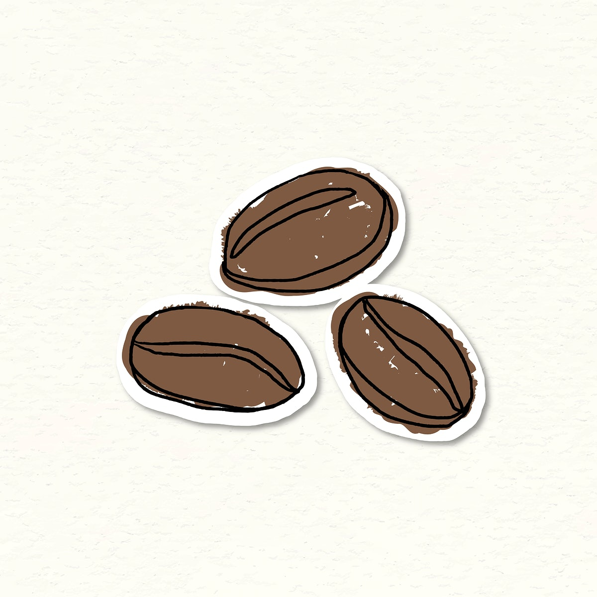 coffee beans doodle journal sticker vector royalty free vector 2375840 https www rawpixel com image 2375840